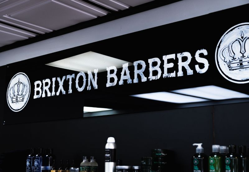 Brixton Logo in Interior of Store