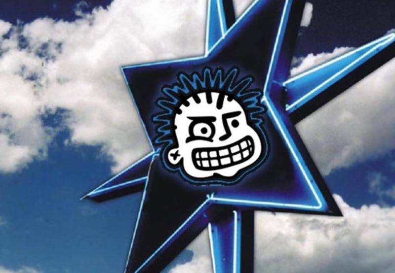 Angry Kid Logo Streetsign